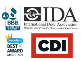 The Door Master is Member of | International Door Association; BBB Accredited Business; Home Star; CDI