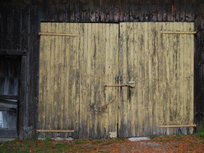 Garage doors from then until now.