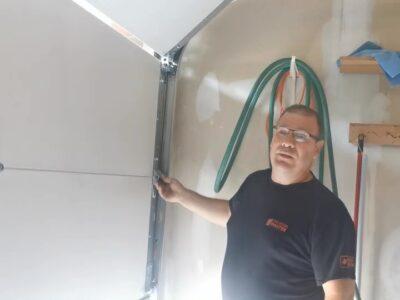 The Door Master DIY- Disengage the garage door.